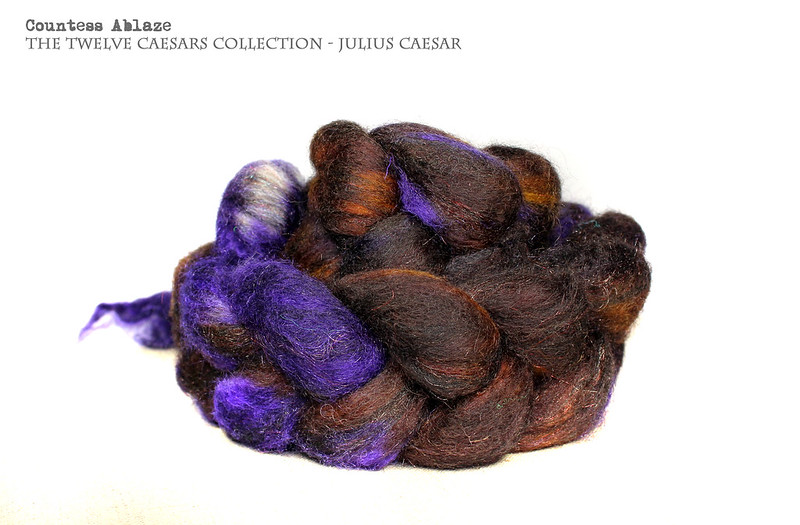 Hand dyed luxury spinning wool