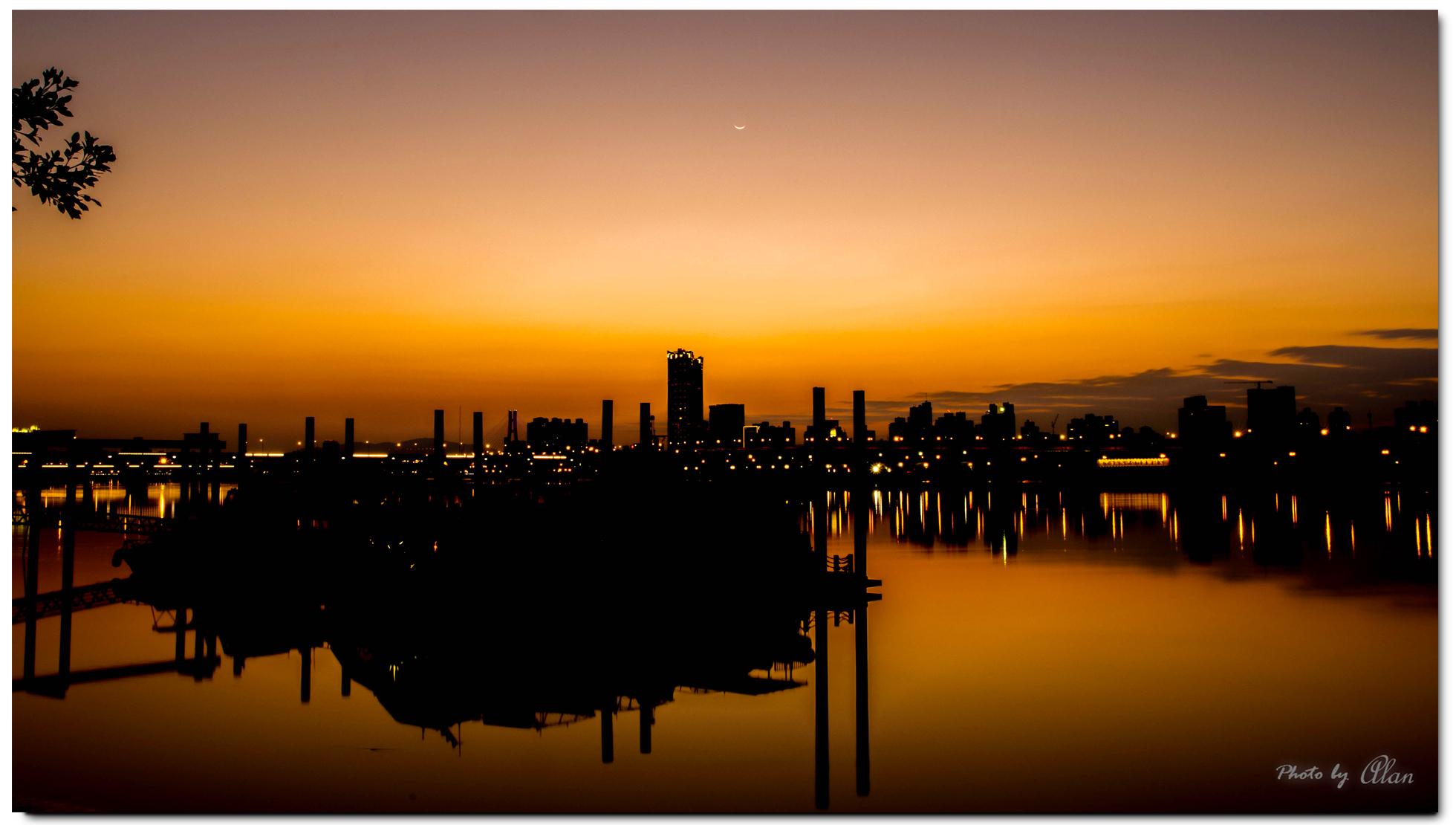 大稻埕夕陽