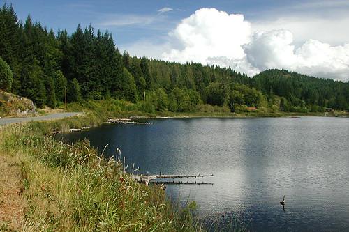 Gunflint Lake, Cortes Island, Discovery Islands, British Columbia, Canada