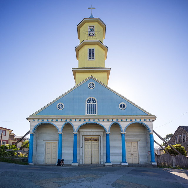 Iglesia de Chonchi, Queilen, Chiloe, Patagonia, Chile