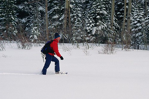 Snowshoeing is a Popular Activity in British Columbia, Canada