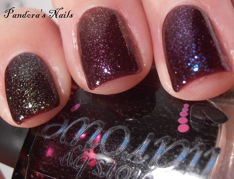 dollish polish nothern lights, aurora australis and aurora borelis over colors by llarowe ox
