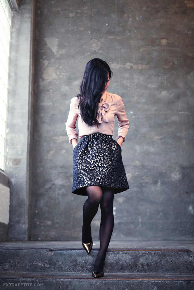 bow top leopard skirt1