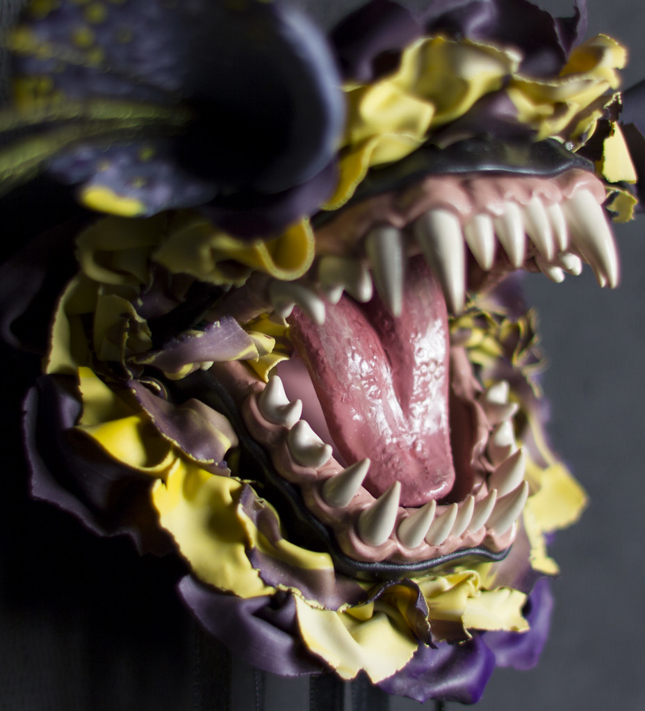 "Erin Ulrey Carnal Pansy (Detail) 20"" x 13"" x 5"" Polymer Clay 2013"