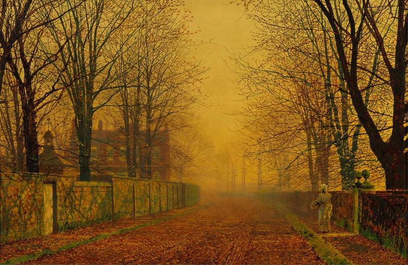 John Atkinson Grimshaw - Evening Glow (c.1884)