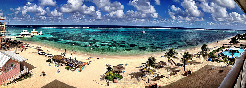 pano from a Morritt's Grand Resort balcony - taken with an Apple iPhone 4S