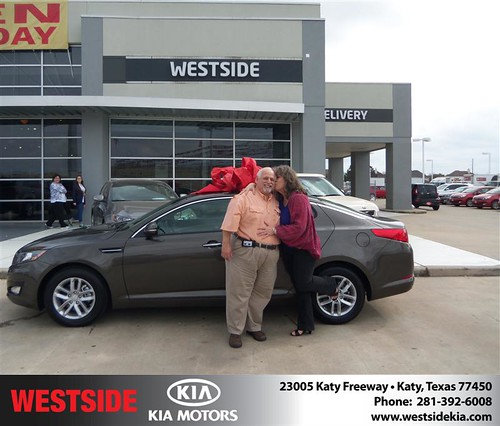 Happy Anniversary to Kimber Wheeler on your 2013 #Kia #Optima from Guzman Gilbert and everyone at Westside Kia! #Anniversary by Westside KIA