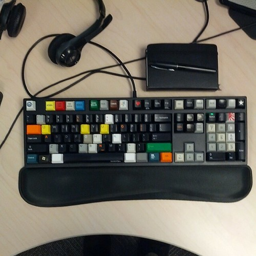 My keyboard at work.