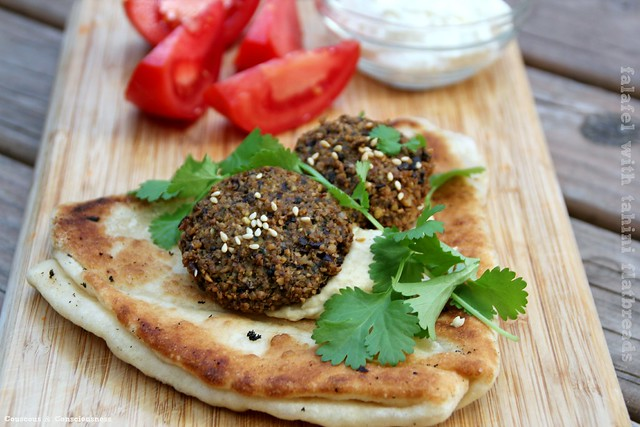 Falafel with Tahini Flatbreads 1
