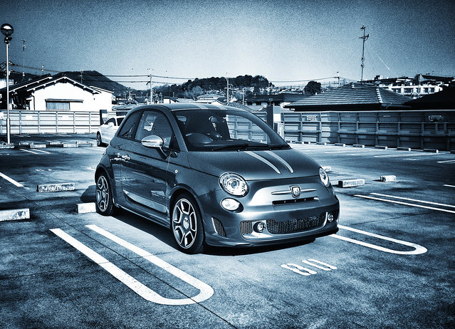 abarth in blue