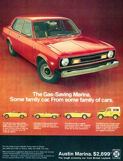 1974 Austin Marina Advertising Road & Track July 1974