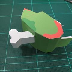 วิธีทำโมเดลกระดาษตุ้กตา คุกกี้ รัน คุกกี้รสซอมบี้ (LINE Cookie Run Zombie Cookie Papercraft Model) 013