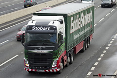 Volvo FH 6x2 Tractor with 3 Axle Curtainside Trailer - KM63 SVO - Jenna Marie - Eddie Stobart - M1 J10 Luton - Steven Gray - IMG_4630