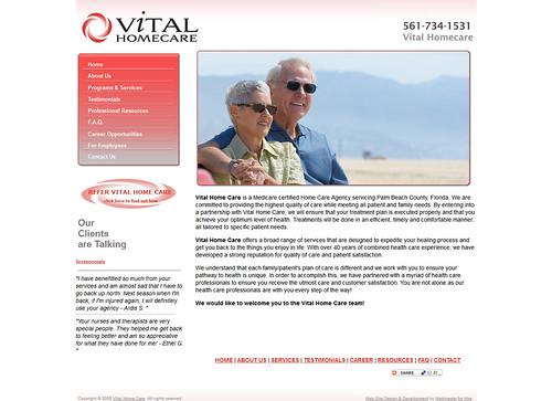 Website Design : Vital Home Care