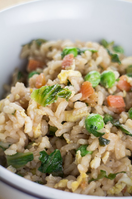 This Chinese Fried Rice recipe is full of vegetables and tastes just like Takeout! 1 1/2 cup of lettuce is used making this a great way to use up your garden lettuce!