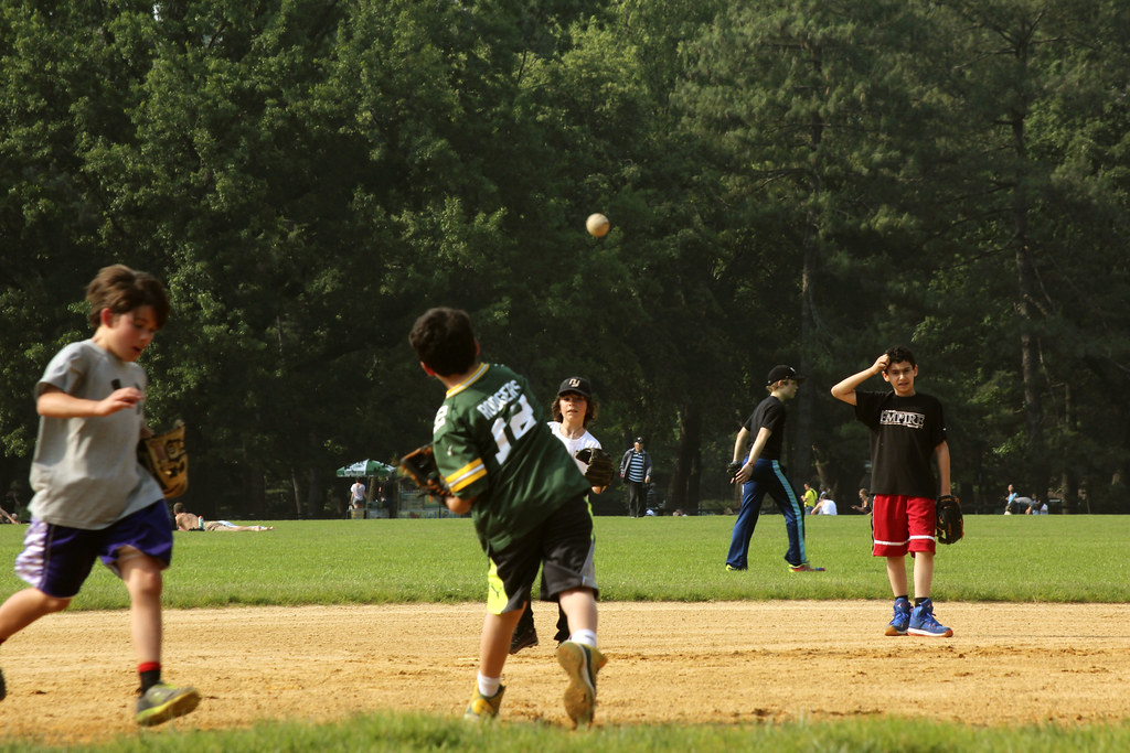 baseball i Central Park, New York CIty