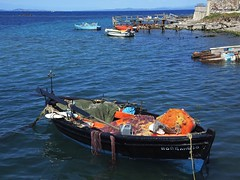 Greece (Lesvos Island)-Fishing boat after a hard day's work