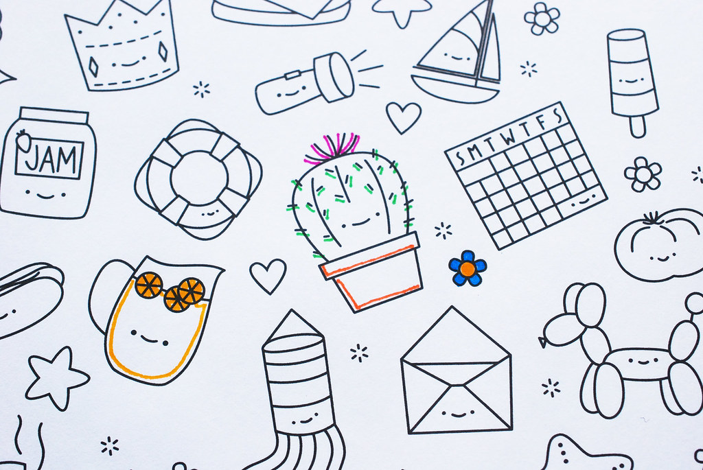 Hexagon Tinies // Printable Coloring Picture