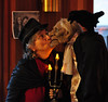 Jane kisses our butler at Purim