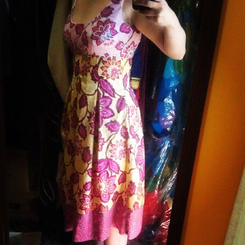 Dress! For summer! In a fabric line from 2years ago! #retro #fashion #dressmaking