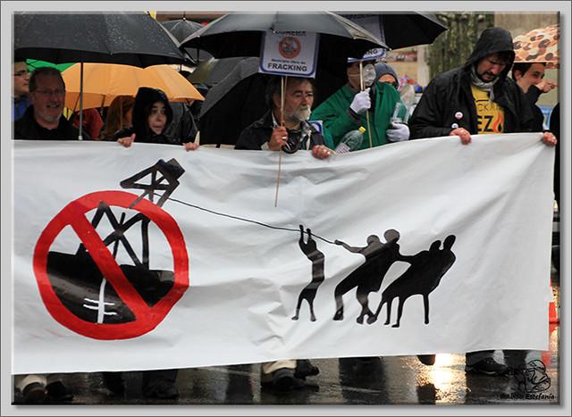 8 Manifestación contra el fracking en Burgos