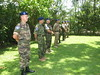 Ten  EUTM personnel attending to receive Medal Parade by European External Action Service - EEAS