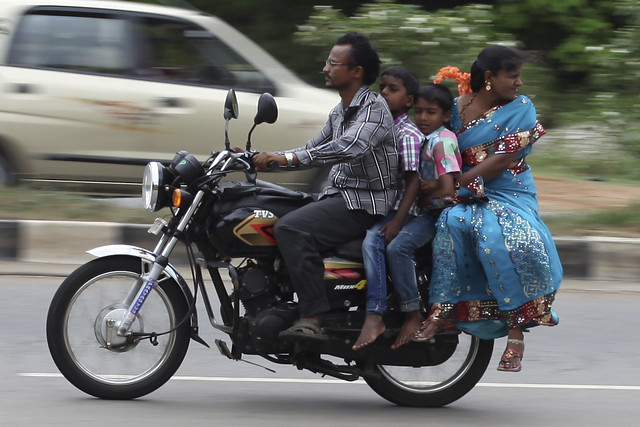 Indian Family on wheels