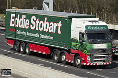 Volvo FH 6x2 Tractor - PX11 BYD - Tamsin Helen - Eddie Stobart - M1 J10 Luton - Steven Gray - IMG_7642