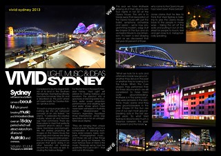 Vivid Sydney Light, Music & Ideas 2013 (Magazine Layout #3)
