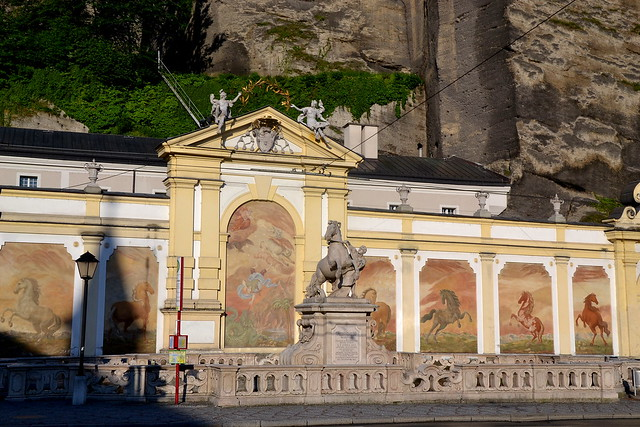 The horse basin (Pferdeschwemme) on the Herbert-von-Karajan-Platz in Salzburg