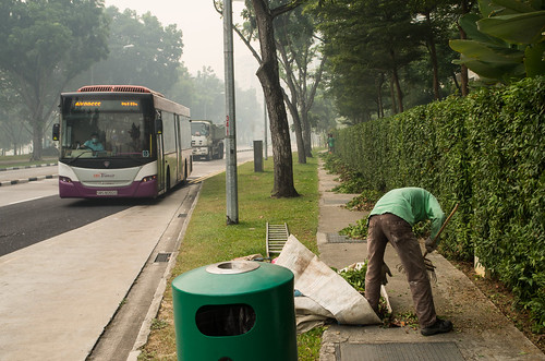 Haze or no haze, we salute these workers who carried out their duties selflessly.