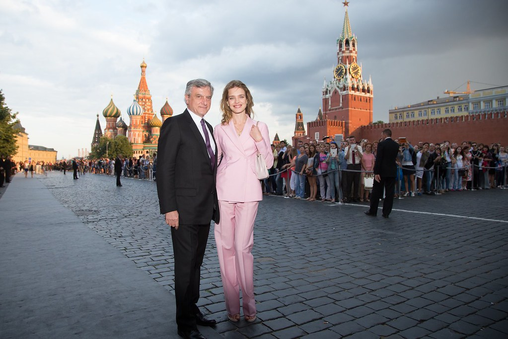 Sidney Toledano and Natalia Vodianova - Photo Viktor Boyko Dior Moscow 2013
