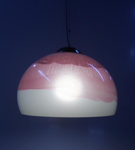 Lampara de Acrilico Colgante Gris Rosada by Ludica Iluminacion