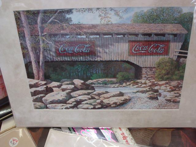 Covered bridge coca cola wall murals flickr photo for Coca cola wall mural