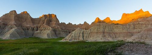 sunset badlands badlandsnationalpark