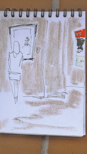 Dibujando  a Giacometti en Madrid