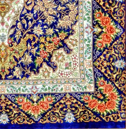 Qum Goladni Pure Silk Master piece