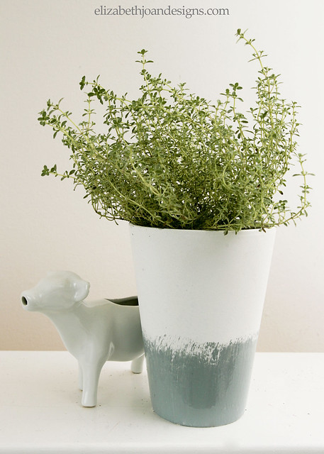 Glazed Herb Planter 7