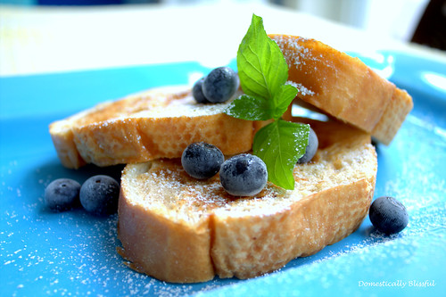 French Toast with Secret Ingredient - Ice Cream! - Domestically Blissful
