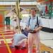 Slovenian pilot Alan Goljevscev prepares for an AeroMusicals flight