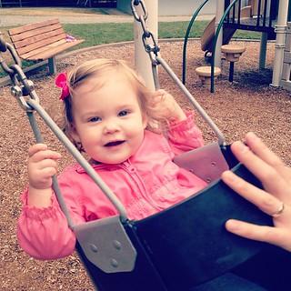 Always her go-to playground activity.