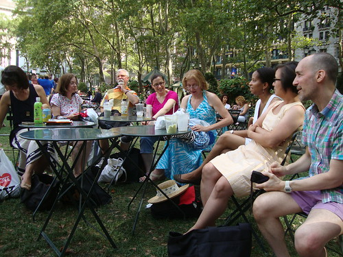 Bryant Park show and tell