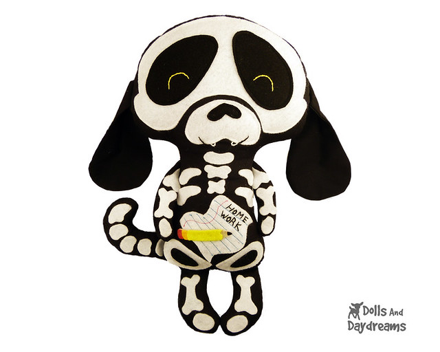 Skeleton Dog Sewing Pattern Halloween