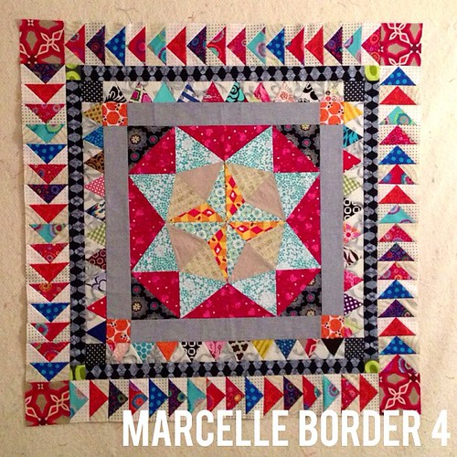 border 4 complete! #marcellemedallion #medallionalong #patchwork #sew #sewing