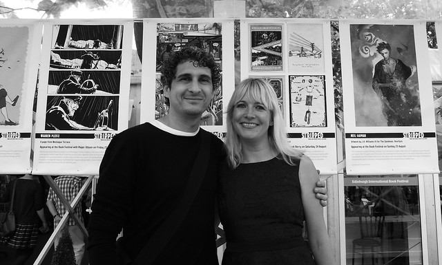 Inaki and Lauren at Book Fest