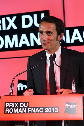 Alexandre Bompard, PDG de la Fnac, au Prix du Roman Fnac 2013