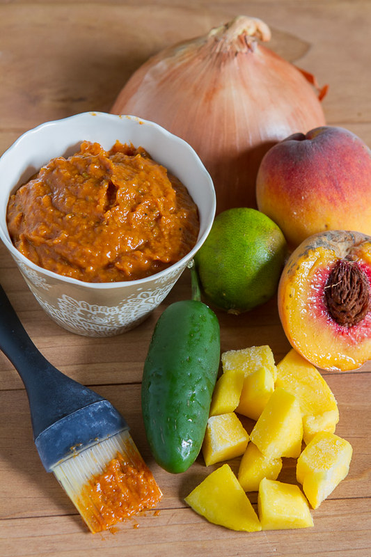 Spicy Peach-Mango BBQ Sauce