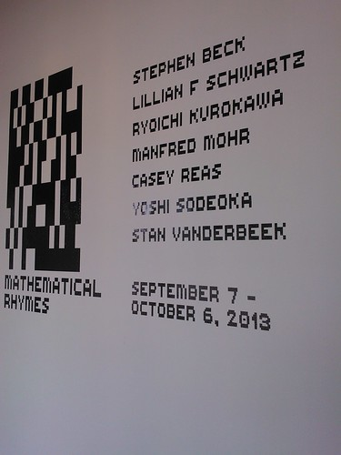 Mathematical Rhymes Gallery Exhibit