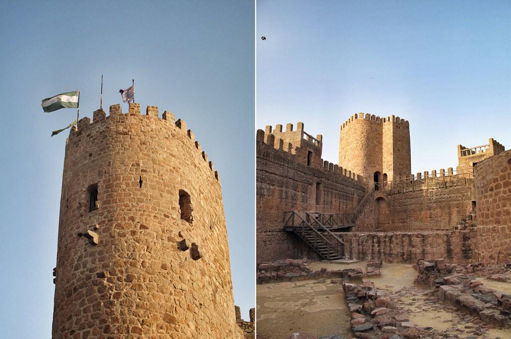 castillos baños de la encina_torre del homenaje_bandera unión europeas_castillo florencia