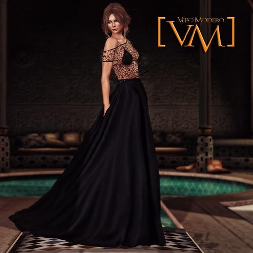 [VM] VERO MODERO  Ava Gown Floral Lace